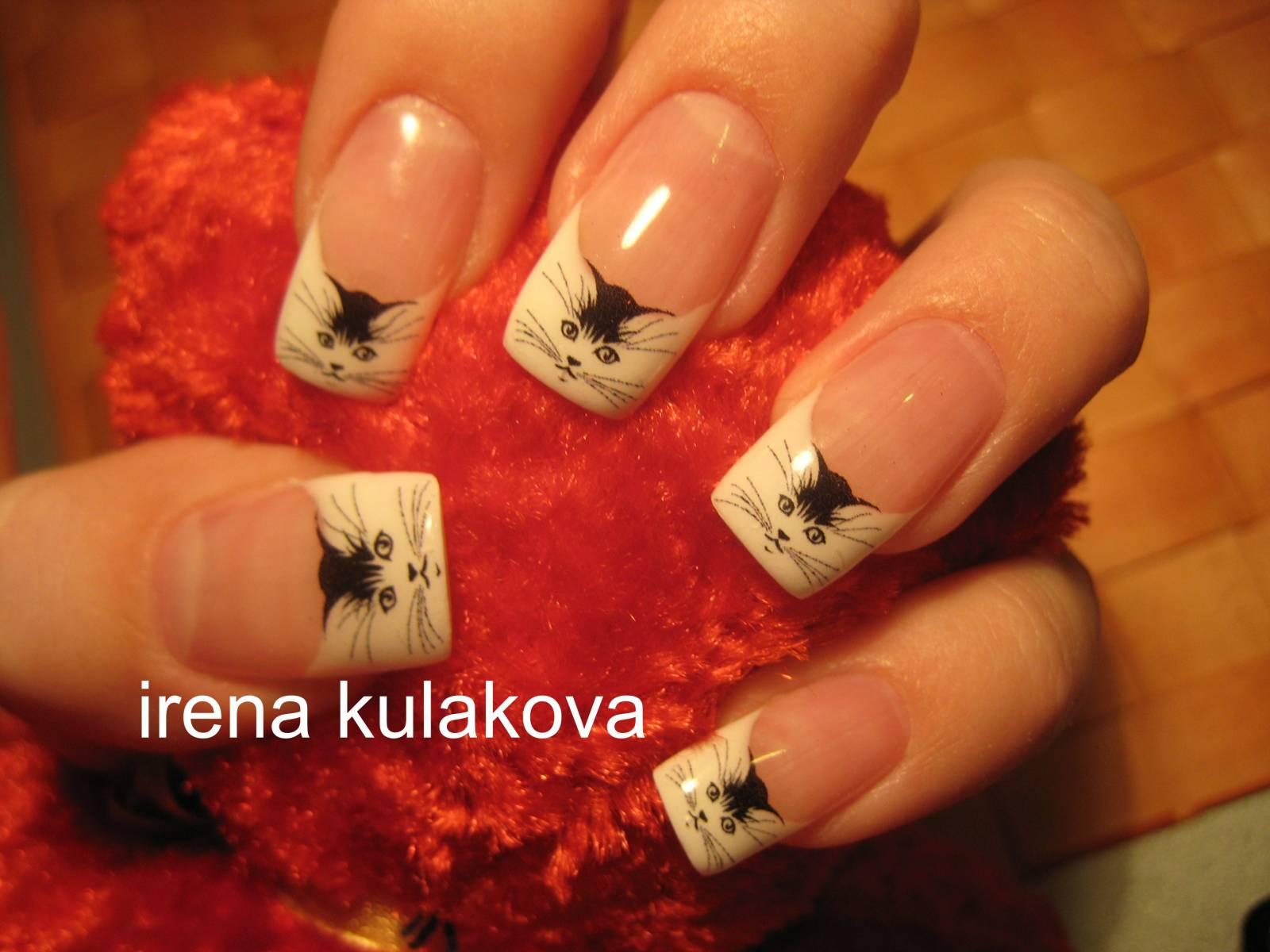 Фото ногтей с рисунками кошки